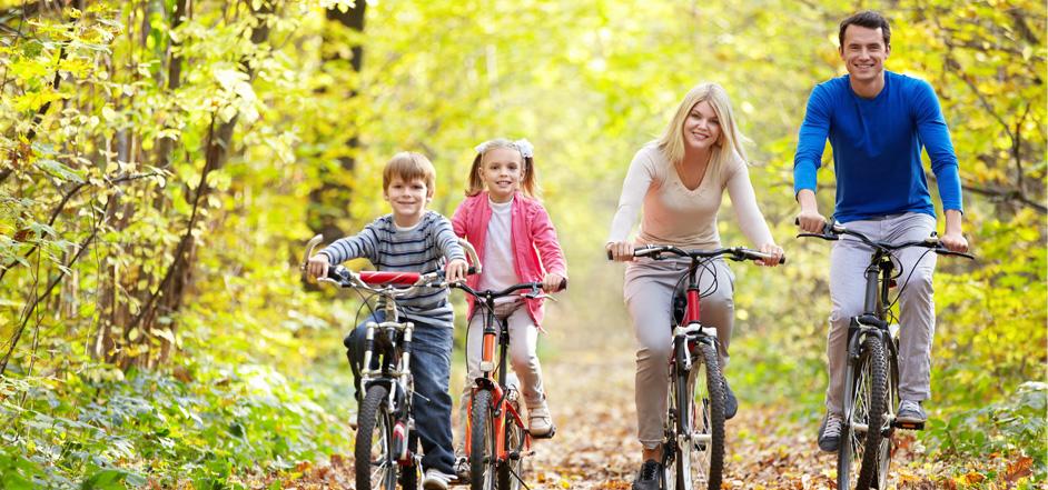 Rodzinne ścieżki rowerowe